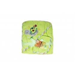 Carter's Baby Hooded Towel with Face Washcloth, Green