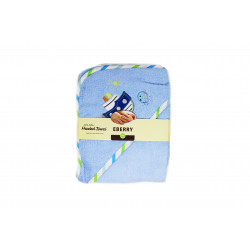 Carter's Hooded Towel, Blue, Different Shapes