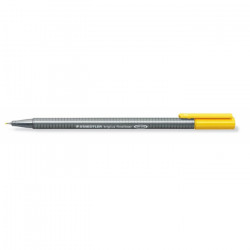 Staedtler Triplus Fineliner Marker Pen - 0.3 mm - Yellow, Pack of 10 Pens