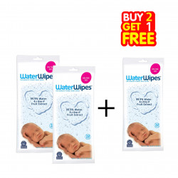 WaterWipes Sensitive Baby Wipes, 28 Count, Buy 2 Get 1 Free