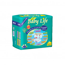 Baby Life Diapers New Born Size, 21 Diapers