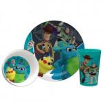 Zak Disney Toy Story 4 Dinnerware Set of 3pc Woody, Buzz & Friends