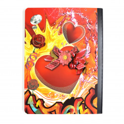 Amigo Notebook 100 Sheet Harts and Roses
