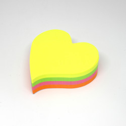 Amigo Shaped Sticky Notes Hearts