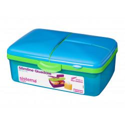 Sistema Lunch Slimline Quaddie, 1.5 L - Blue