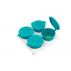Tommee Tippee Explora 4 Pop Up Freezer Pots and Tray, +4 months, Green