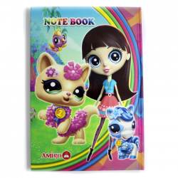 Amigo Cat Cardboard Notebook 100 Sheet, B5