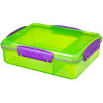 Sistema Lunch Snack Attack Duo, 975 ml, Assorted Colours - Green