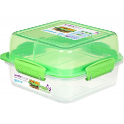 Sistema To Go Rectangle Lunch Stack Box, 1.24L - Green