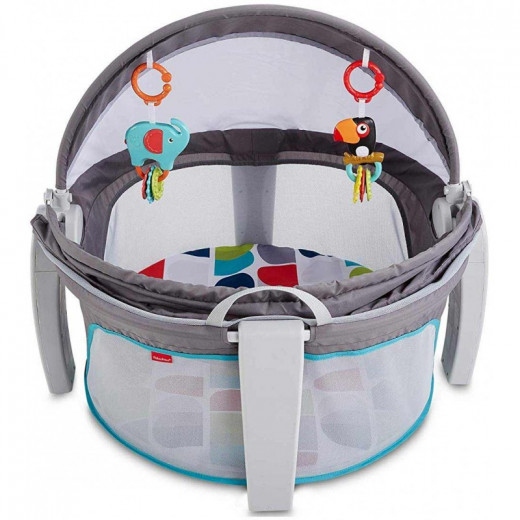 Fisher-Price On-The-Go Baby Dome, New-Born Baby Cot or Travel Bassinet