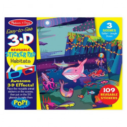 Melissa & Doug Easy-to-See 3-D Reusable Sticker Pad - Habitats