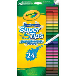 Crayola Supertips Washable Markers 24 Pack 1X24