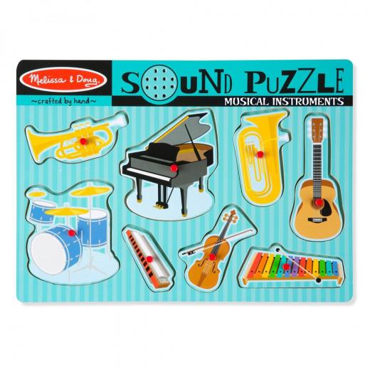 Melissa & Doug Musical Instruments Sound Puzzle - 8 Pieces