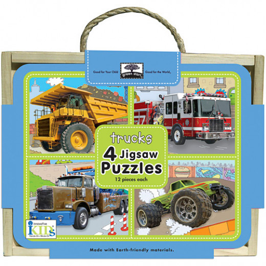 Innovative Kids 4 Jigsaw Puzzels trucks