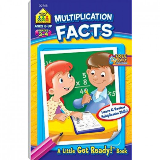 School Zone - Multiplication Facts, Grades 3-4 (A Little Get Ready! Book