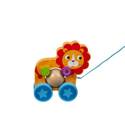 Little Rollers Wooden Toy Lion