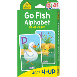School Zone Go Fish Alphabet Game Cards, 56 cards