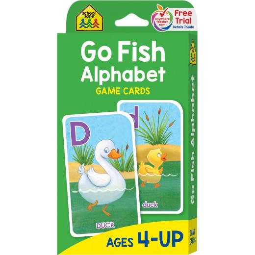 School Zone Go Fish Alphabet Game Cards, 56 cards