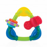 Nuby Hard/Soft Triangle Teether - 3m+, Yellow