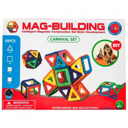 Intelligent Magnetic Building Set for Brain Development / Mag Building 28 pieces