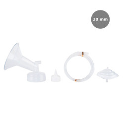 Spectra Wide Breast Shield Set (20mm) 4pc ( S )