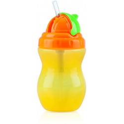 Nuby Flip-it Leakproof Straw Bottle (320ml), yellow