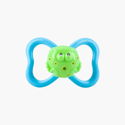 Nuby Pacifiers 3D Bug 6-18m, Green