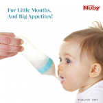 Nuby Squeeze Feeder With Slow and Fast Spoon 90ml - Red