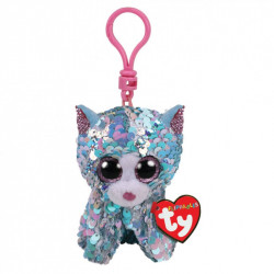 Ty Boos Flippable Cat Blue Clip