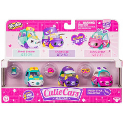 Rosha Cutie Cars Shopkins S2 3-pack, Dessert Drivers Collection, Assorted