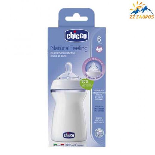Chicco Natural Feeling (6M+) 330 ML Fast Flow Bottle