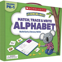 Scholastic  Learning Mats: Match, Trace & Write the Alphabet