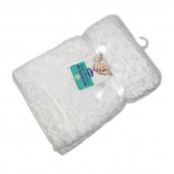 بطانية اطفال قطيفة - ابيض