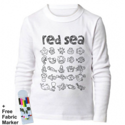 Mlabbas Red Sea Kids Coloring Long Sleeve Shirt  12-13 years