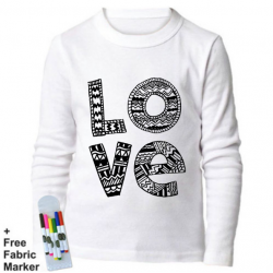 Mlabbas Love Kids Coloring Long Sleeve Shirt 12-13  years