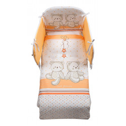 Italbaby 5 Piece Maxi Hello Bedding Set, Orange, One Size
