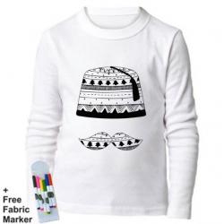 Mlabbas Tarboush Kids Coloring Long Sleeve Shirt 7-8 years