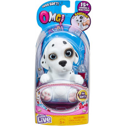 Little Live OMG Pets Soft Squishy Puppy Dog that Comes to Life, Cries and Eats, Dalmation