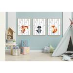 مطبوعات فنية جدارية مؤطرة بالخشب غير العادي ، حيوانات برية 1 - من اكسترا اورديناري, A4