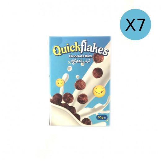 Quickflakes Chocolate Balls, 30 g X7 Packs