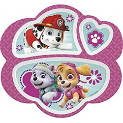 Zak! Designs 3 Section Plate featuring Pink Paw Patrol Graphics
