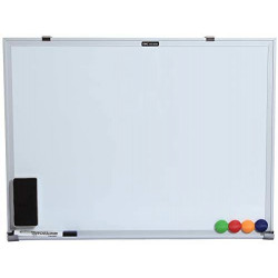 Deli White board 90 X 120 Cm  + 1 Free Eraser +1 whiteboard pen
