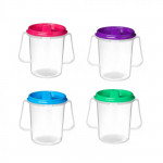 Sistema Drink cup with lid and spout 250 ml Purple