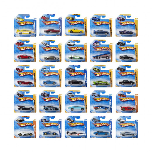 مجموعة سيارات  من هوت ويلز متنوعة بعلبة واحدة 72 قطعة
