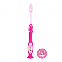 فرشاة أسنان حليب الأسنان من شيكو لعمر 3-6 سنوات - وردي