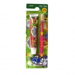 Kodomo Toothbrush Zigzag-2 In1, Pink