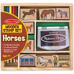 Melissa & Doug Wooden Stamp Set - Horses