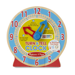 Melissa & Doug Turn & Tell Wooden Clock