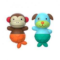 لعبة مائية على شكل  القرد & الكلب للعب في البانيو من سكيب هوب