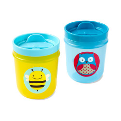 Skip Hop Two Zoo Tumbler Cups (Owl/ Bee)